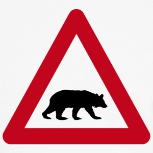 Bears on road sign - Men's Ringer Shirt
