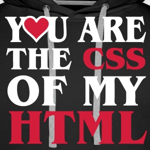 I love CSS / YOU ARE THE CSS OF MY HTML / HEART HEART Hoodies & Sweatshirts - Men's Premium Hoodie