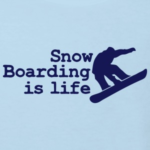 snowboarding is life T-shirts Enfants - T-shirt Bio Enfant