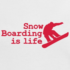 snowboarding is life T-Shirts - Frauen Kontrast-T-Shirt