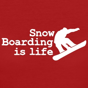 snowboarding is life T-shirts - T-shirt Bio Femme