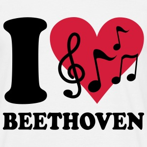 I love Beethoven T-shirts - T-shirt Homme