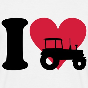 I love Tractor T-shirts - Mannen T-shirt