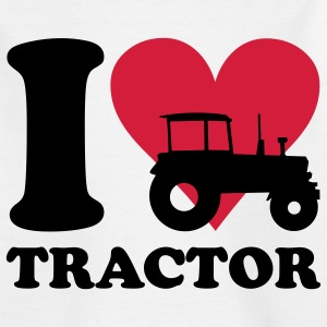 I love Tractor Børne T-shirts - Teenager-T-shirt