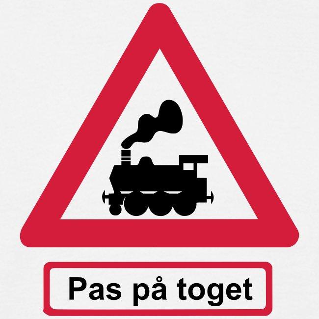 Skilt Pas på toget