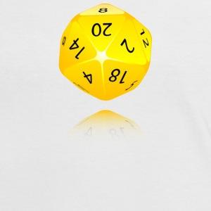 20-sided Die - Frauen Kontrast-T-Shirt