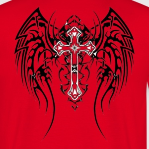 tribal_tattoos_of_angel_wings_2 T-shirts - T-shirt Homme