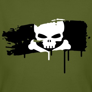 pirate flag painted with a brush stroke T-Shirts - Men's Organic T-shirt