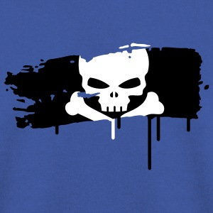 pirate flag painted with a brush stroke Hoodies & Sweatshirts - Men's Sweatshirt