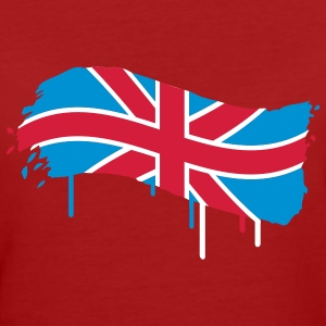 English flag painted with a brush stroke  T-Shirts - Women's Organic T-shirt