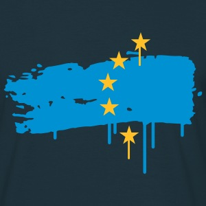 European flag painted with a brush stroke T-Shirts - Men's T-Shirt