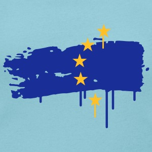 European flag painted with a brush stroke T-Shirts - Women's Scoop Neck T-Shirt