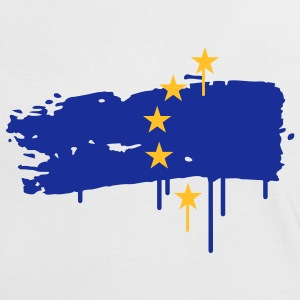 European flag painted with a brush stroke T-Shirts - Women's Ringer T-Shirt