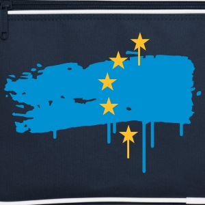 European flag painted with a brush stroke Bags  - Retro Bag