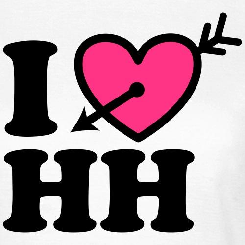 I LOVE (Herz) HH Hamburg Pfeil im Herzen b 2c