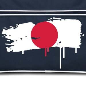 Japanese flag painted with a brush stroke Bags  - Retro Bag