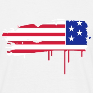 Flag of the United States painted with a brush stroke  T-Shirts - Men's T-Shirt