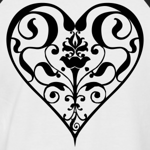 heart - Men's Baseball T-Shirt