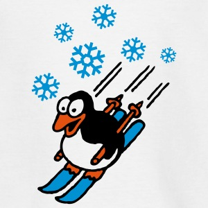 pinguin_ski_022011_d_3c T-shirts - Teenager-T-shirt