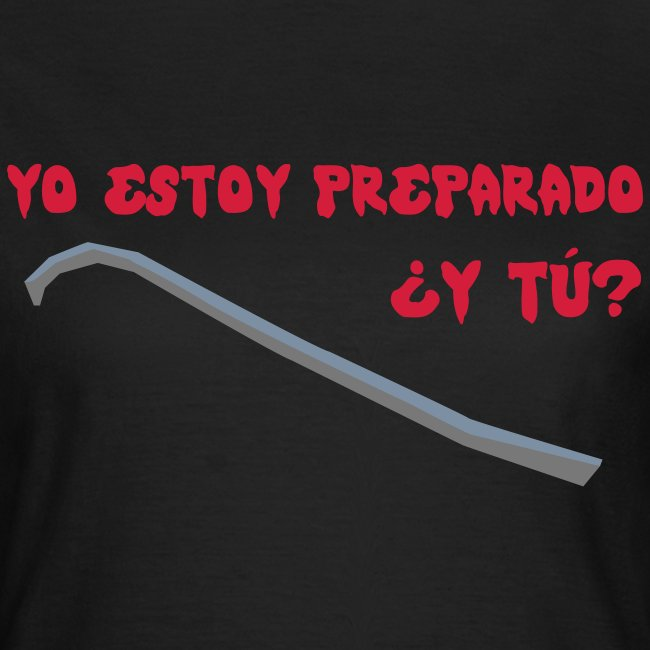 camiseta walking dead - estoy preparado - chica manga corta