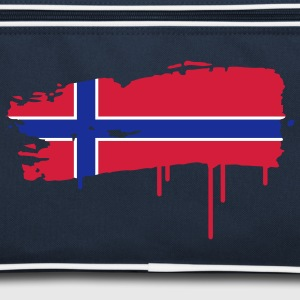 Norwegian flag painted with a brush stroke  Bags  - Retro Bag