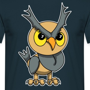 chouette hibou h - T-shirt Homme