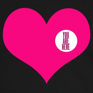 you are here - amor y San Valentin Camisetas - Camiseta contraste hombre