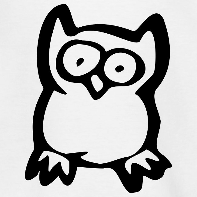 Cute For Kids - Owl (White/Black)