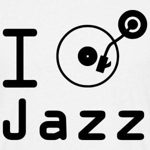 I Play jazz I play jazz / I love jazz / DJ  T-shirts - Herre-T-shirt