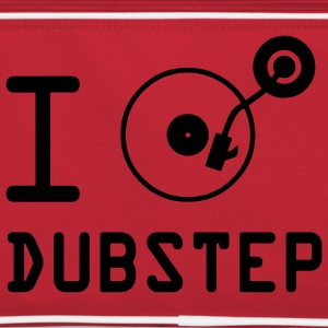 Ik speel dubstep / I Love Dubstep / vinyl DJ Tassen - Retro-tas