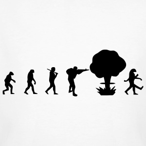 Evolution nuclear war T-Shirts - Men's Organic T-shirt