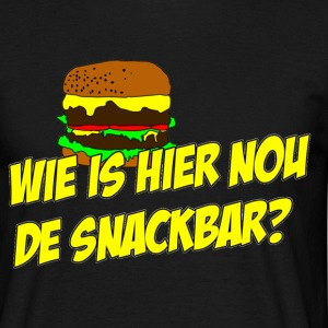 Wie is hier nou de snackbar? T-shirts - Mannen T-shirt