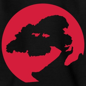 Bonsai silhouet, voor planten, Japan en martial arts fans. Kinder shirts - Teenager T-shirt