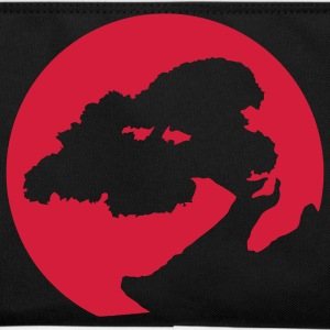 Bonsai silhouette, for plants, Japan and martial arts fans. Bags  - Retro Bag