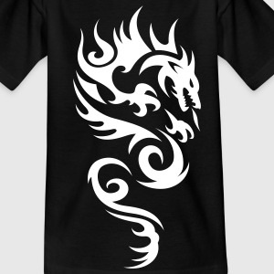 tribal dragon Camisetas niños - Camiseta adolescente