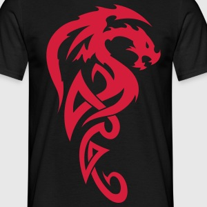 tribal dragon T-shirt - Maglietta da uomo