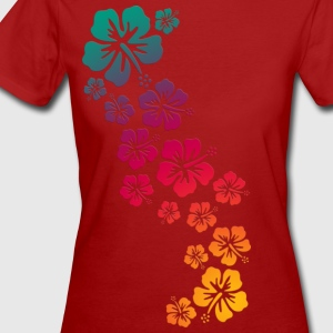 BALI HIBISCUS BLOOMS COLOURED | Frauenshirt organic - Frauen Bio-T-Shirt