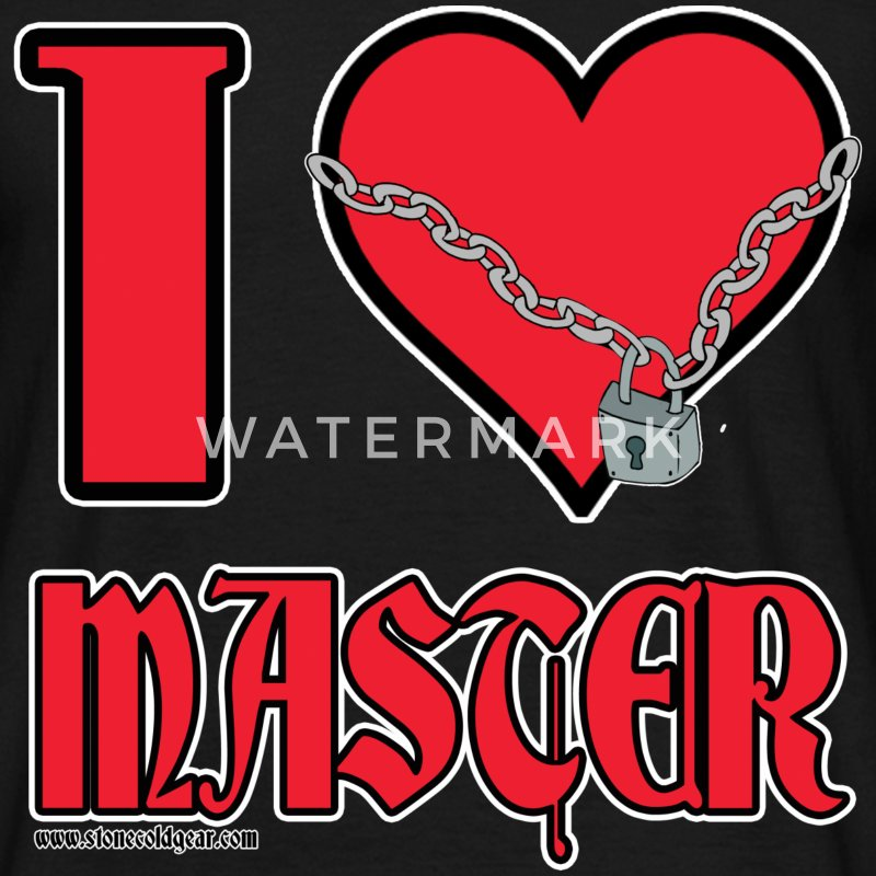 I Love Master T-Shirts - Men's T-Shirt