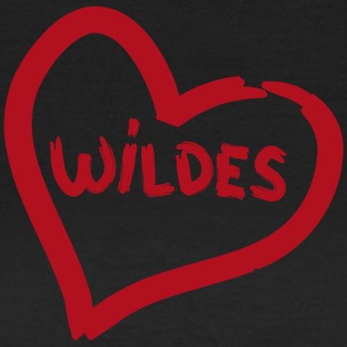 Herz Wildes rot