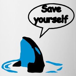 Save Yourself  sauver les baleines.  Tasses - Tasse