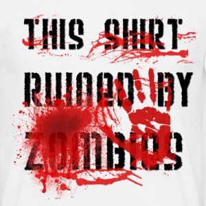 This shirt ruined by zombies, this T-shirt was ruined by zombies T-Shirts - Men's T-Shirt
