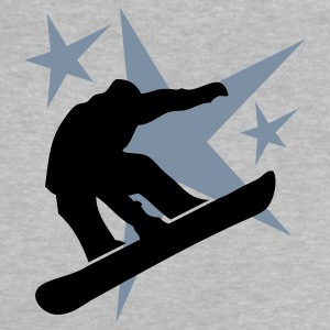snowboarder jump with stars Baby T-Shirts - Baby T-Shirt