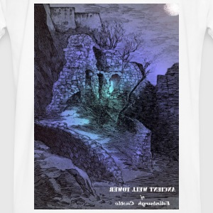 Whit Mug with the image of the Ancient Well Toweer - Men's Ringer Shirt