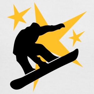 snowboarder jump with stars T-Shirts - Women's Ringer T-Shirt