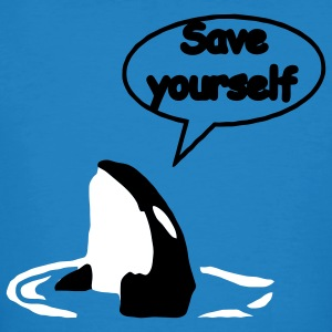 Save Yourself  sauver les baleines.  T-shirts - T-shirt bio Homme