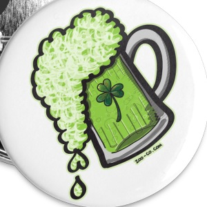 Saint Patrick's Day Glass of Beer Buttons - Buttons large 56 mm