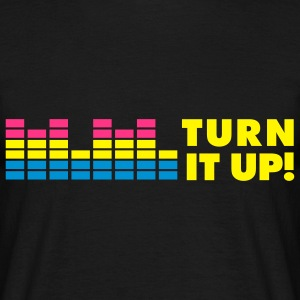 MUSIC: TURN IT UP T-shirts - Mannen T-shirt