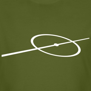 Field line on the chest - Men's Organic T-shirt