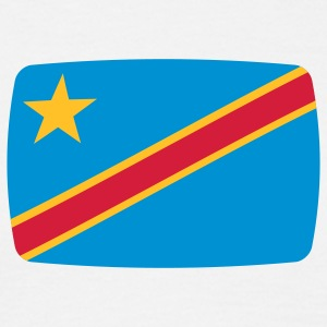 Republic of Congo flag Congo République Démocratique du Congo Flag African  T-Shirts - Men's T-Shirt
