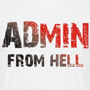 ADMIN from hell - Männer T-Shirt